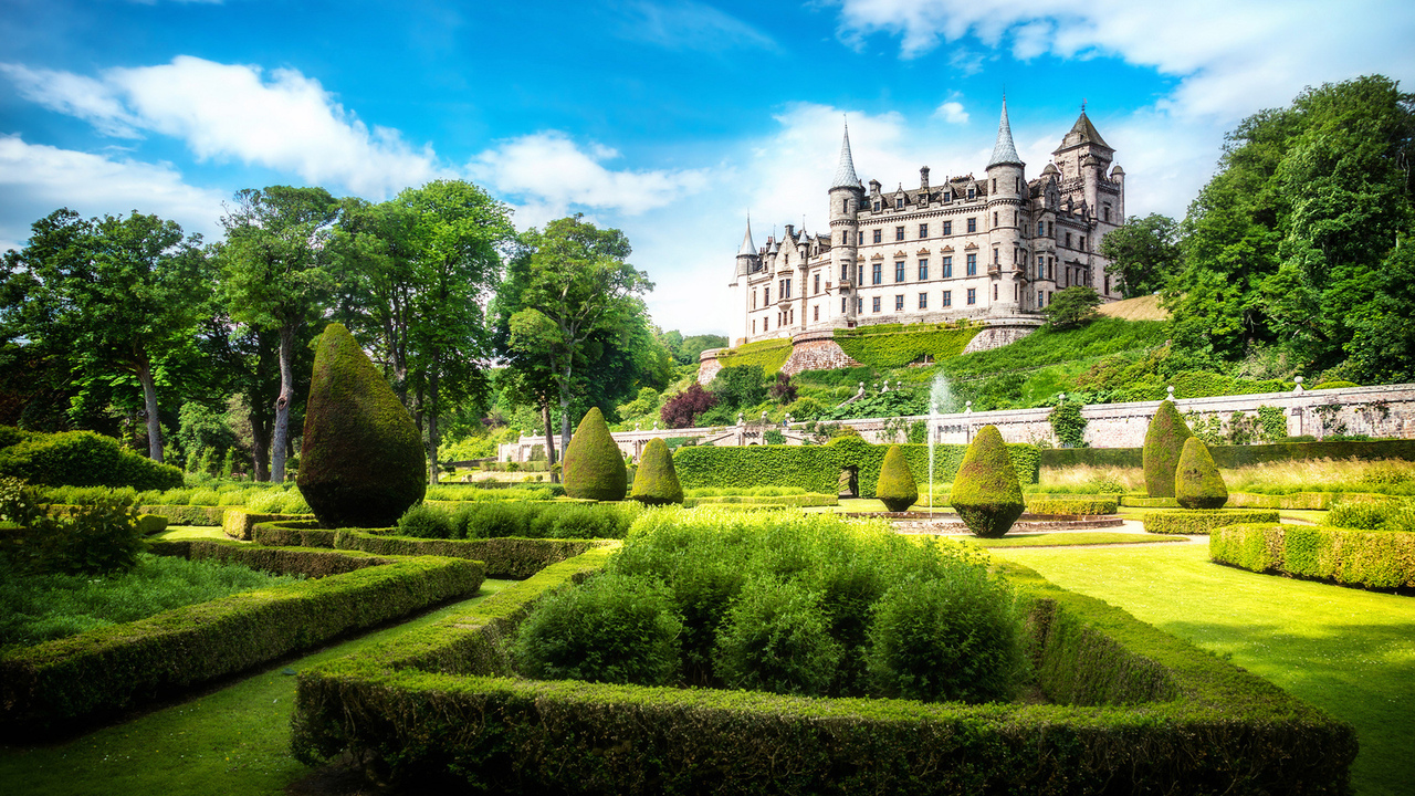 great britain, scotland, sutherland, alba, dunrobin castle, шотландия