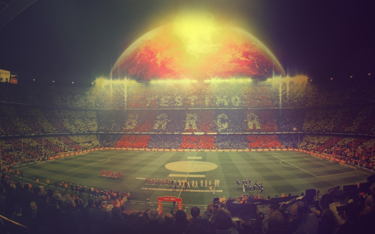 fc barcelona, футбол, camp nou, photoshop