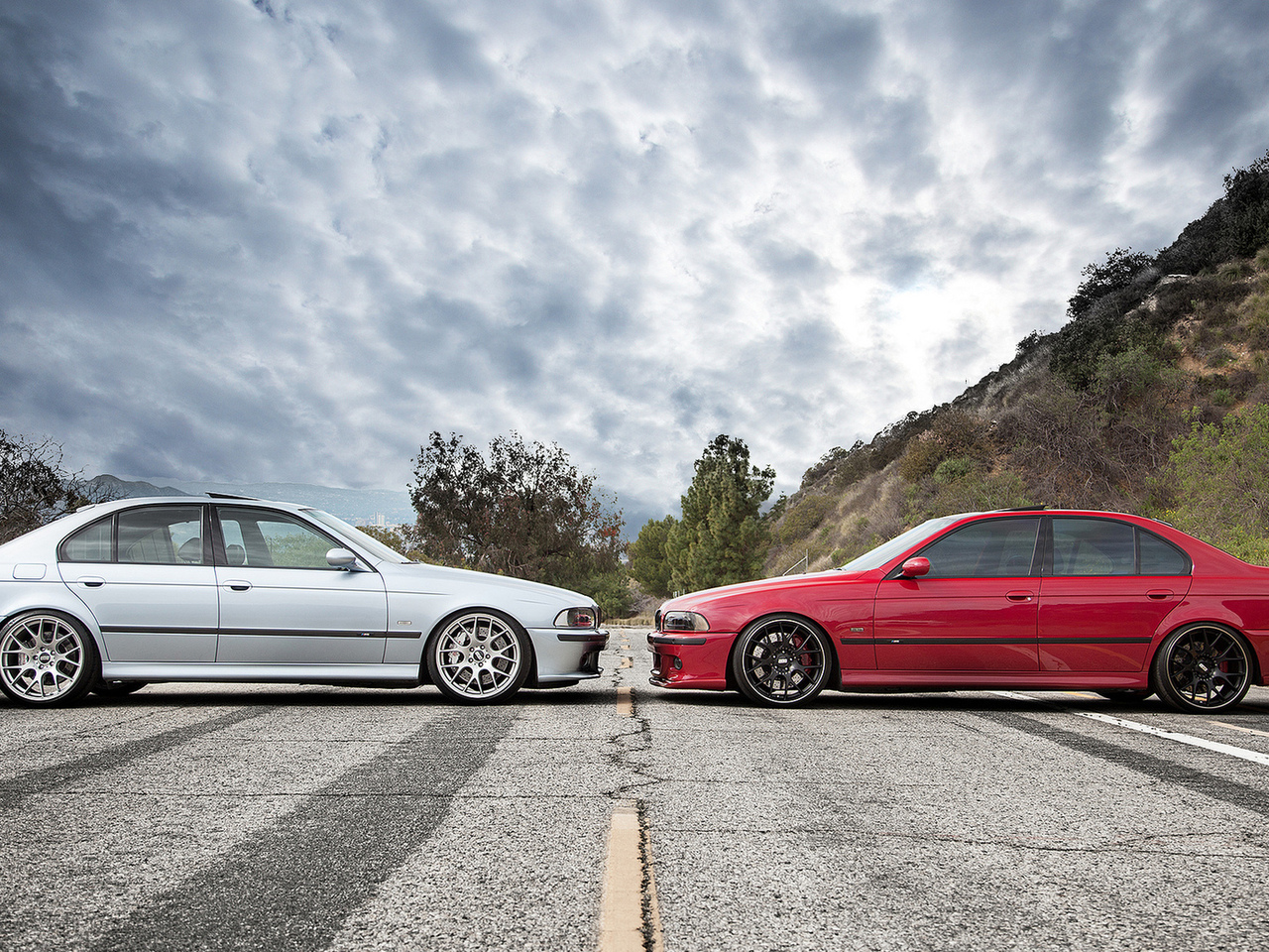 face to face, red, e39, bbs, красный, m5, blue, голубой, bmw, бмв, wheels