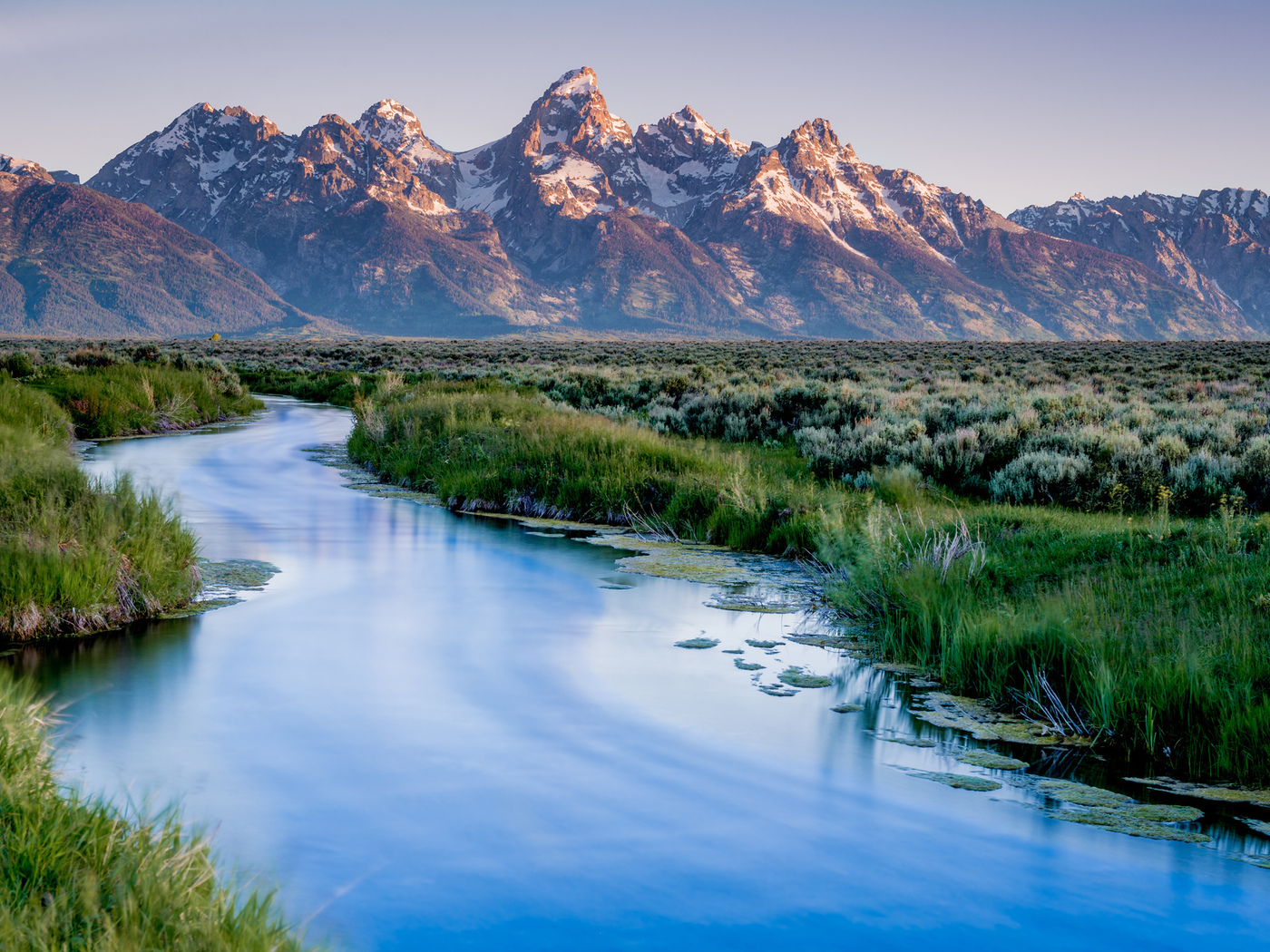 национальный парк, wyoming, mountains, grand teton national park, lake, usa