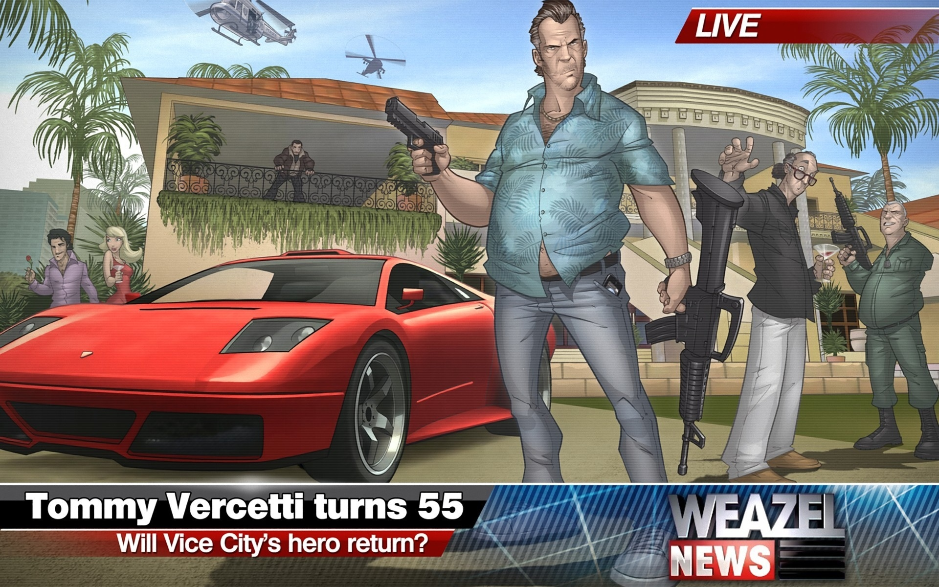 patrick brown, tommy vercetti, gta, 2011, vice city, grand theft auto, art