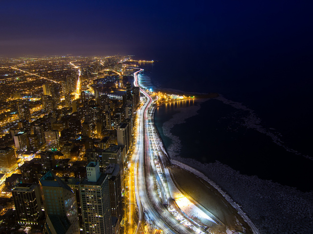 chicago, lake shore drive, город, сша, illinois, иллинойс, usa, чикаго