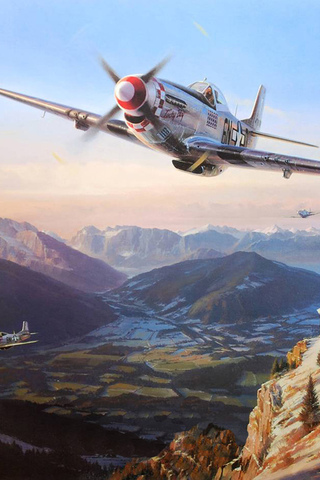 nicolas trudgian, mustangs over the eagles nest, north american p-51 mustang