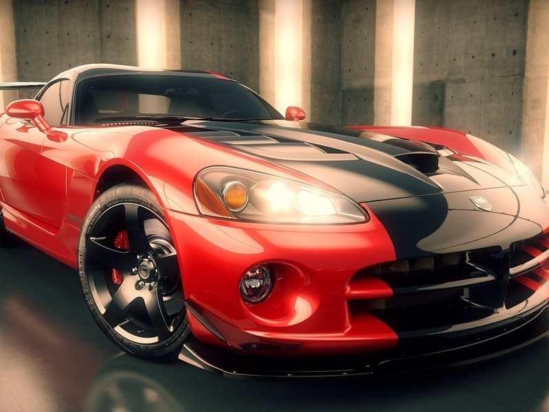 3d, supercar, dodge viper, рендер, додж вайпер