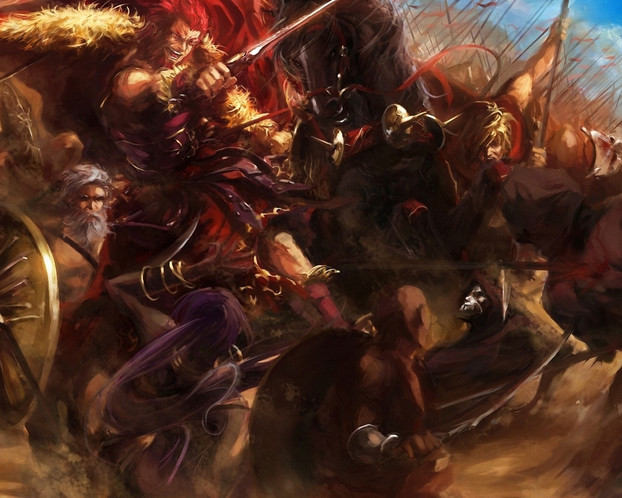 assassin, stu dts, rider , оружие, битва, войны, fate zero, арт, fate stay night