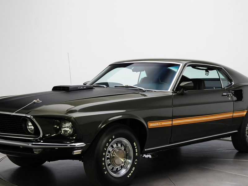 mustang, мускул кар, 1969, muscle car, mach 1, cobra jet