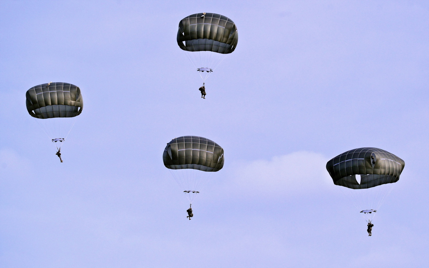 t-11 parachutes, training area, u.s. army soldiers