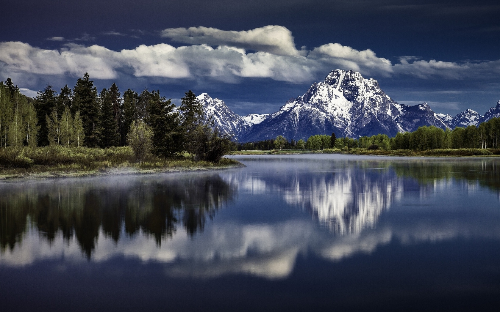 grand teton national park, река снейк, mount moran, wyoming, snake river