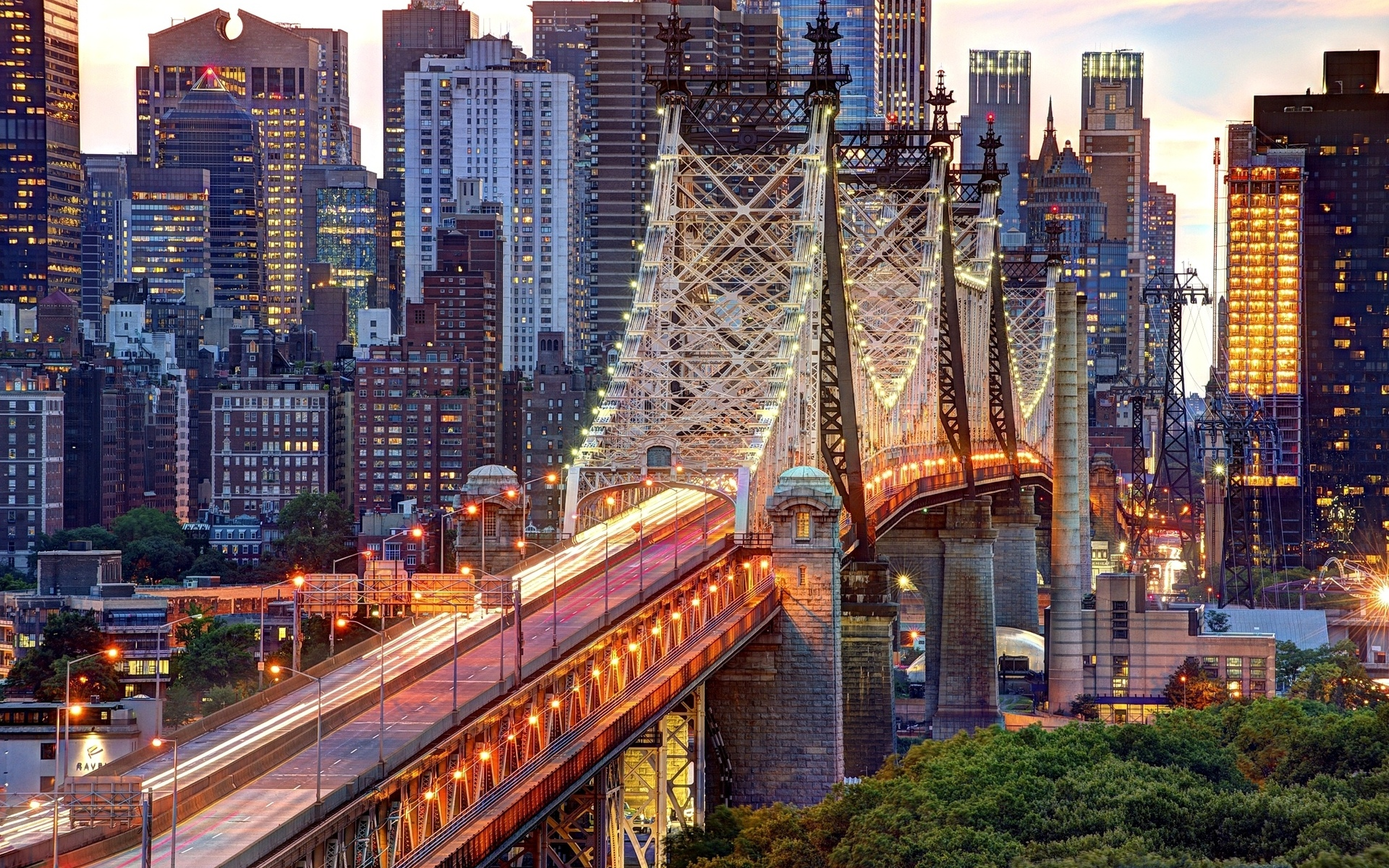 usa, нью-йорк, queensboro bridge, new york, nyc, east river, new york city, manhattan