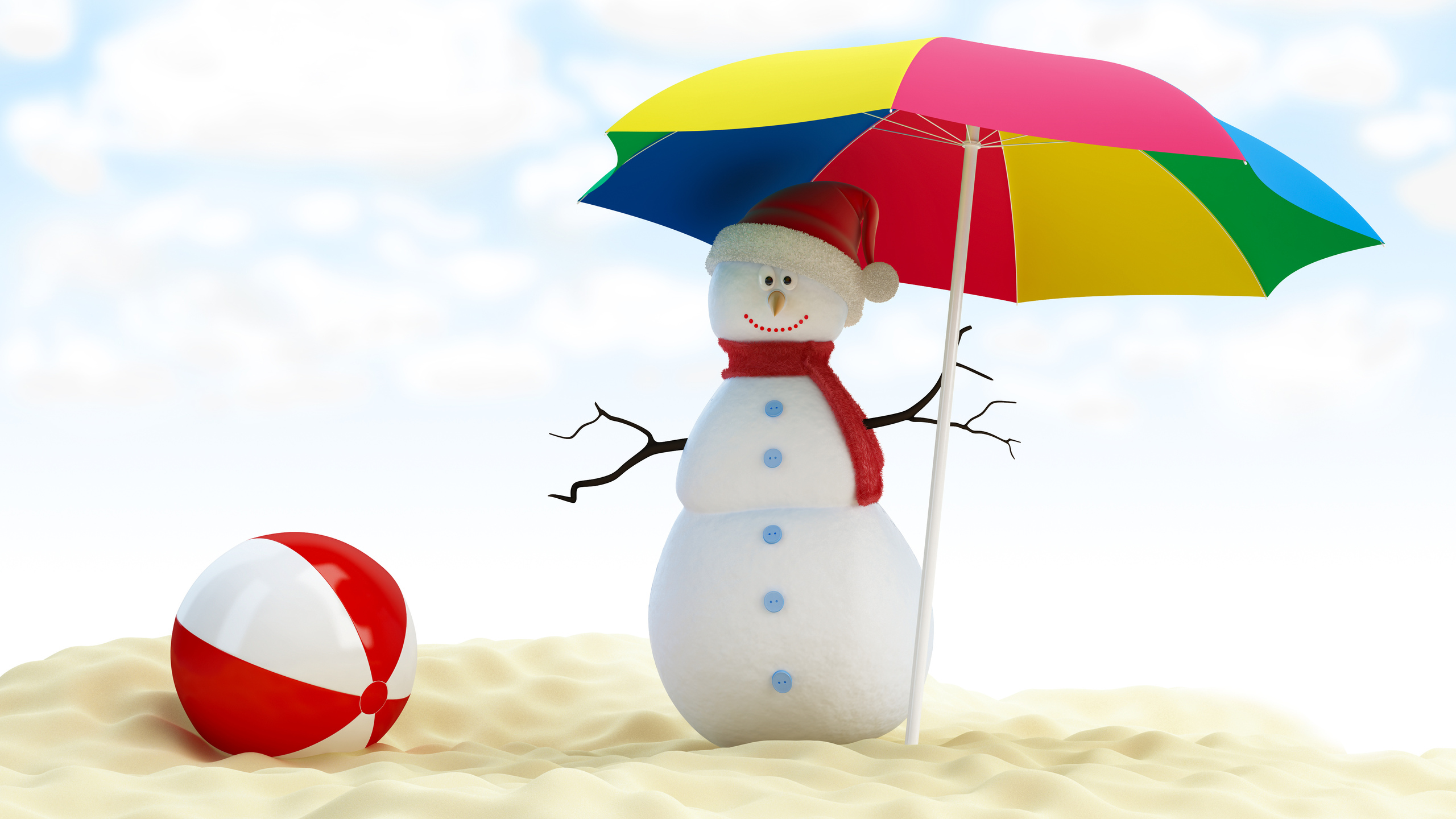 merry christmas , umbrella, snowman, веселый рождество, beach ball, new year