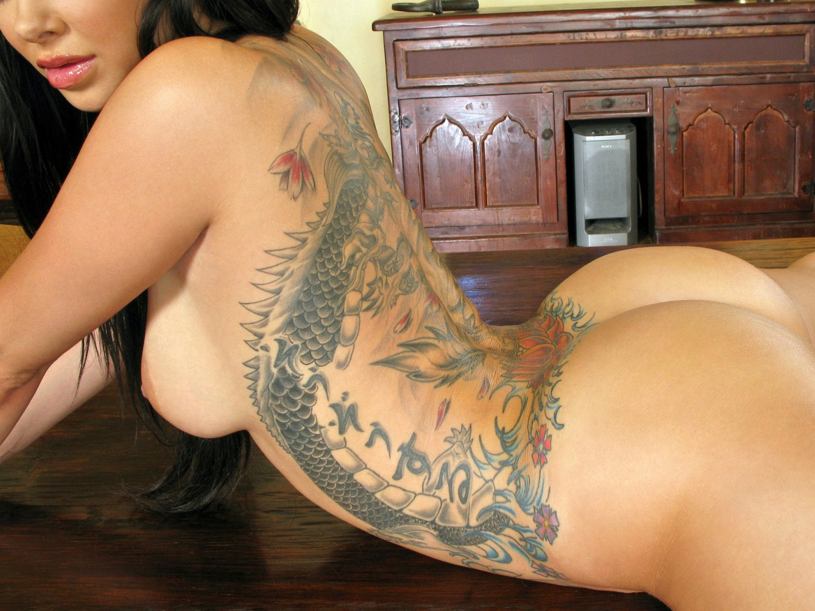 Nude girls in tattoo