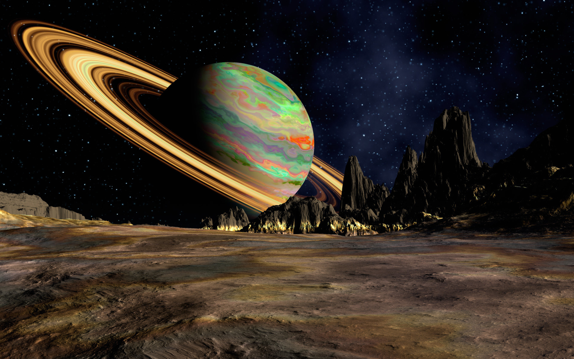 planets and space - HD1920×1200