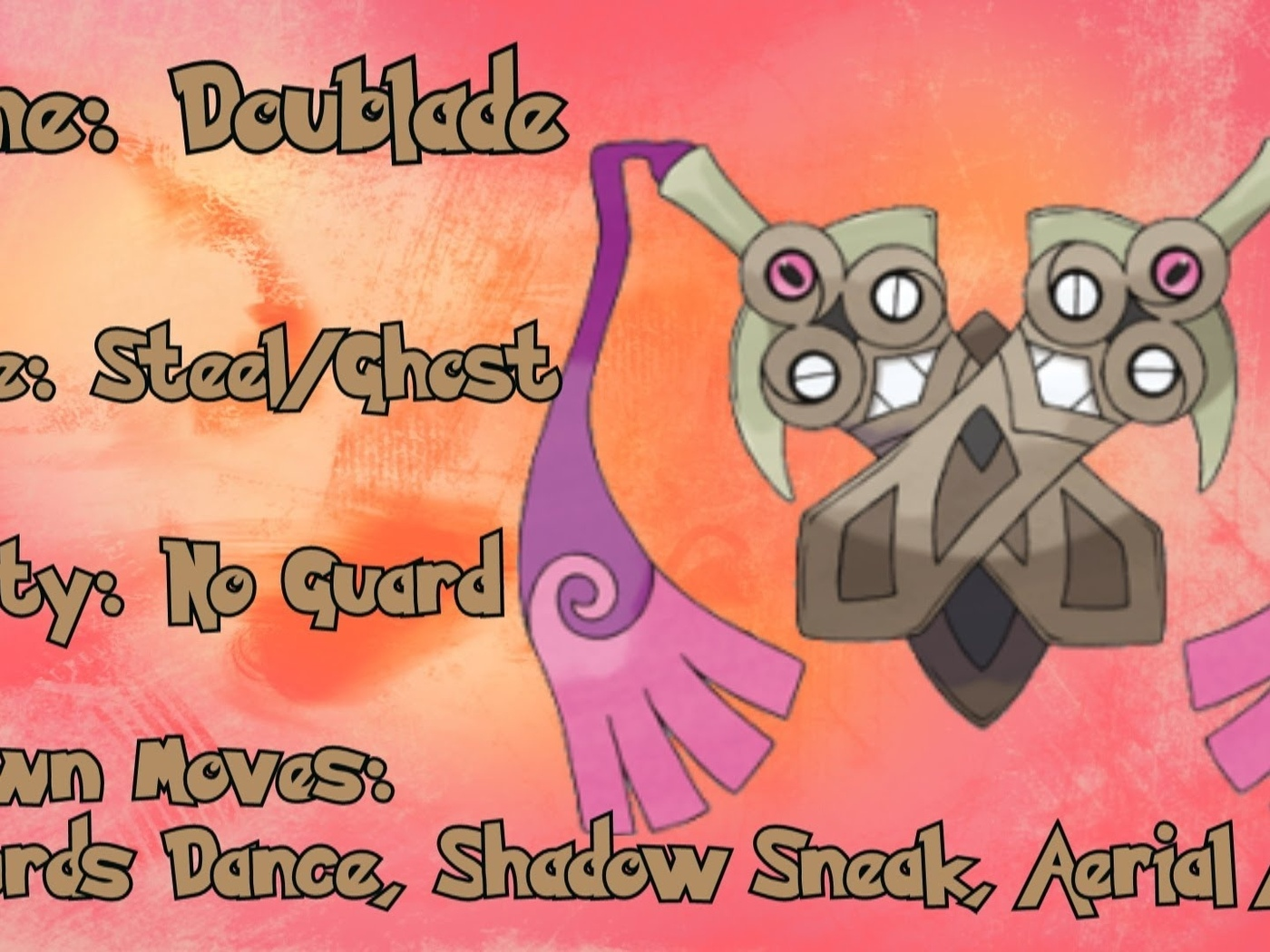doublade, pokemon