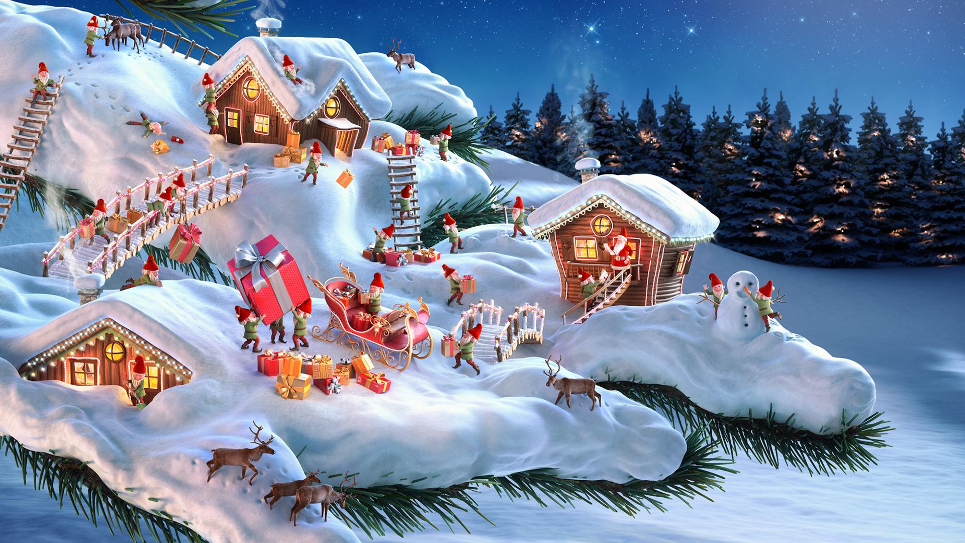 Новый год сказочные картинки