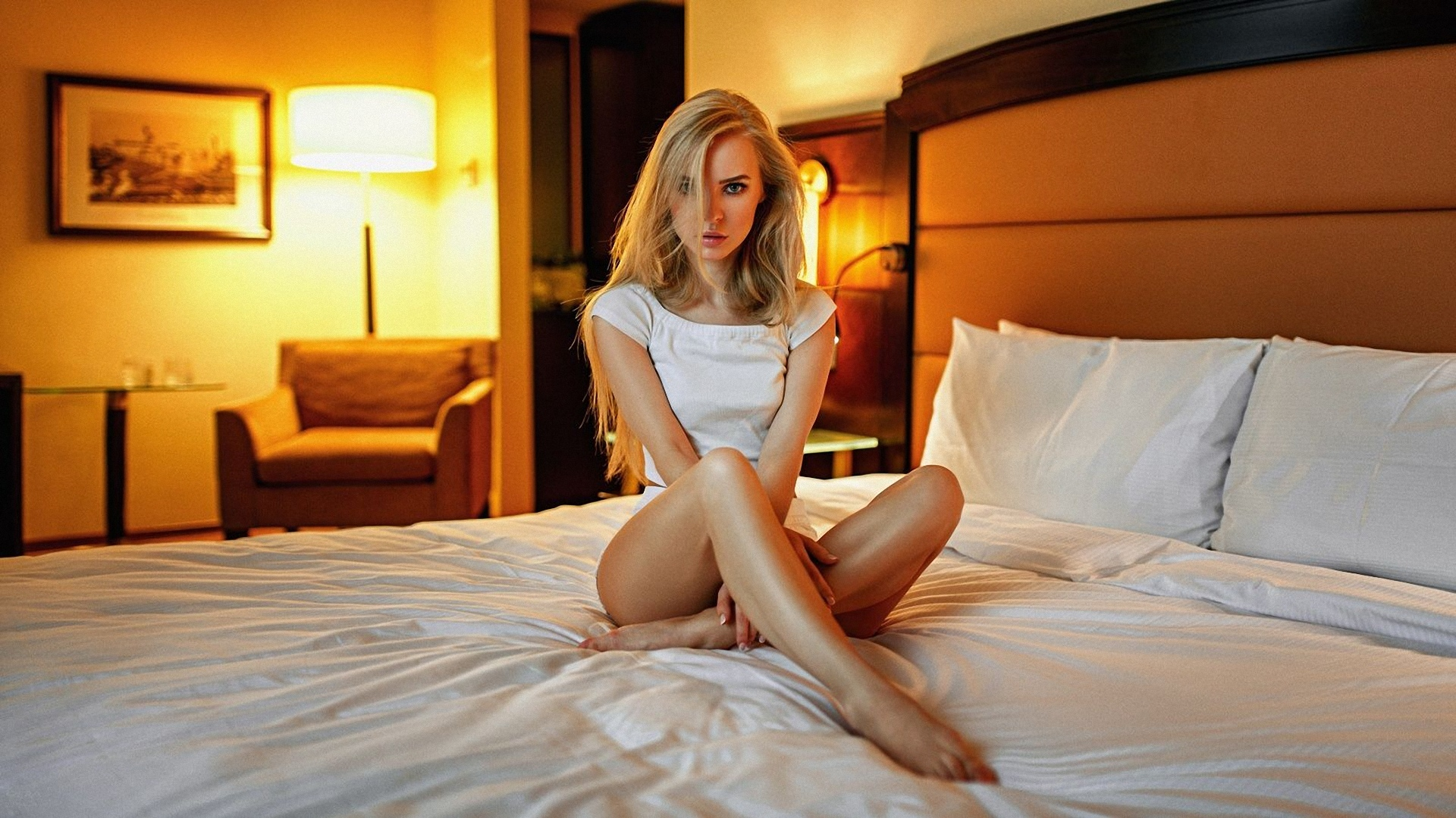 Girl birthday beautiful young girls in bed babe