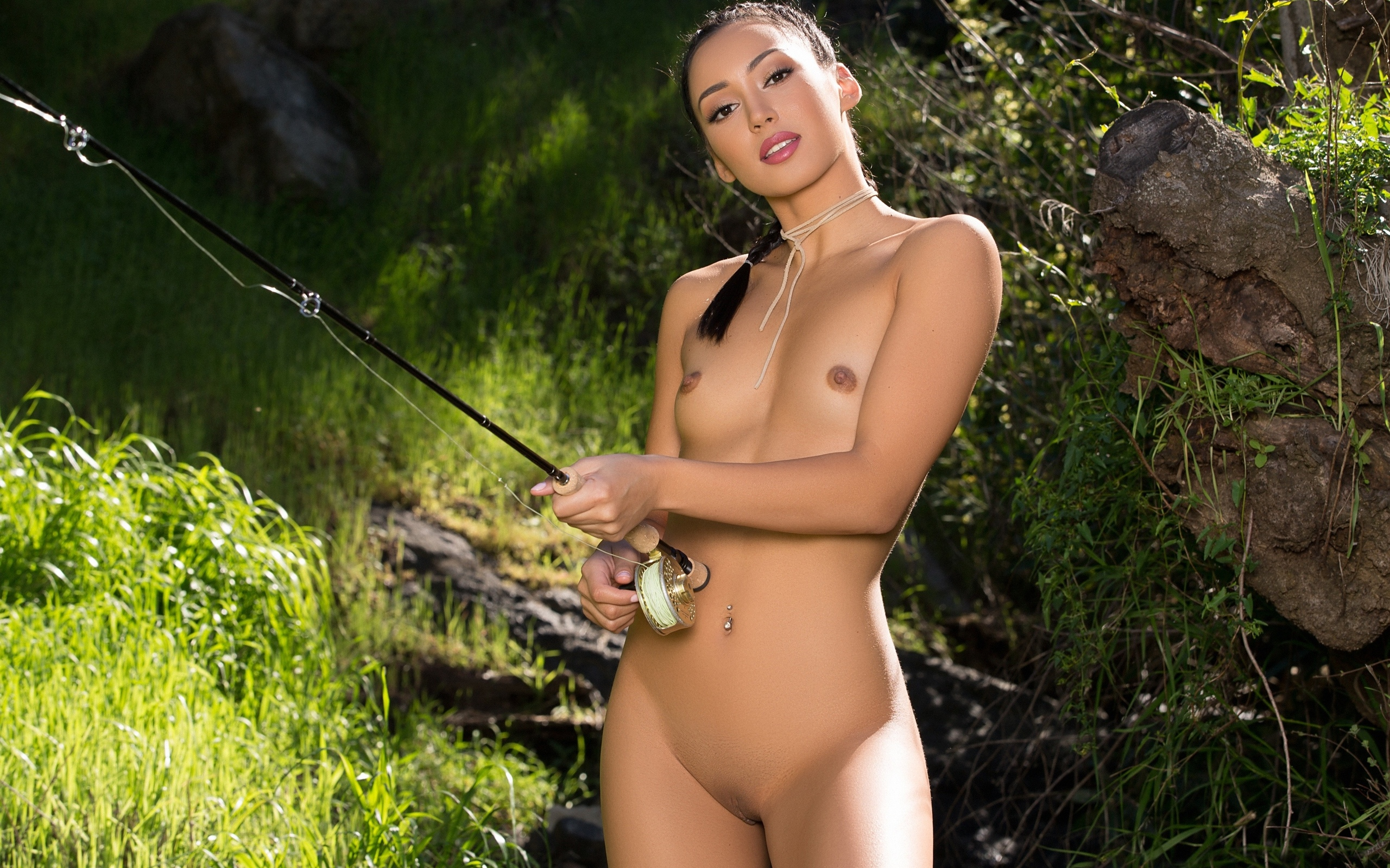 Nude lady fishing sexy sex