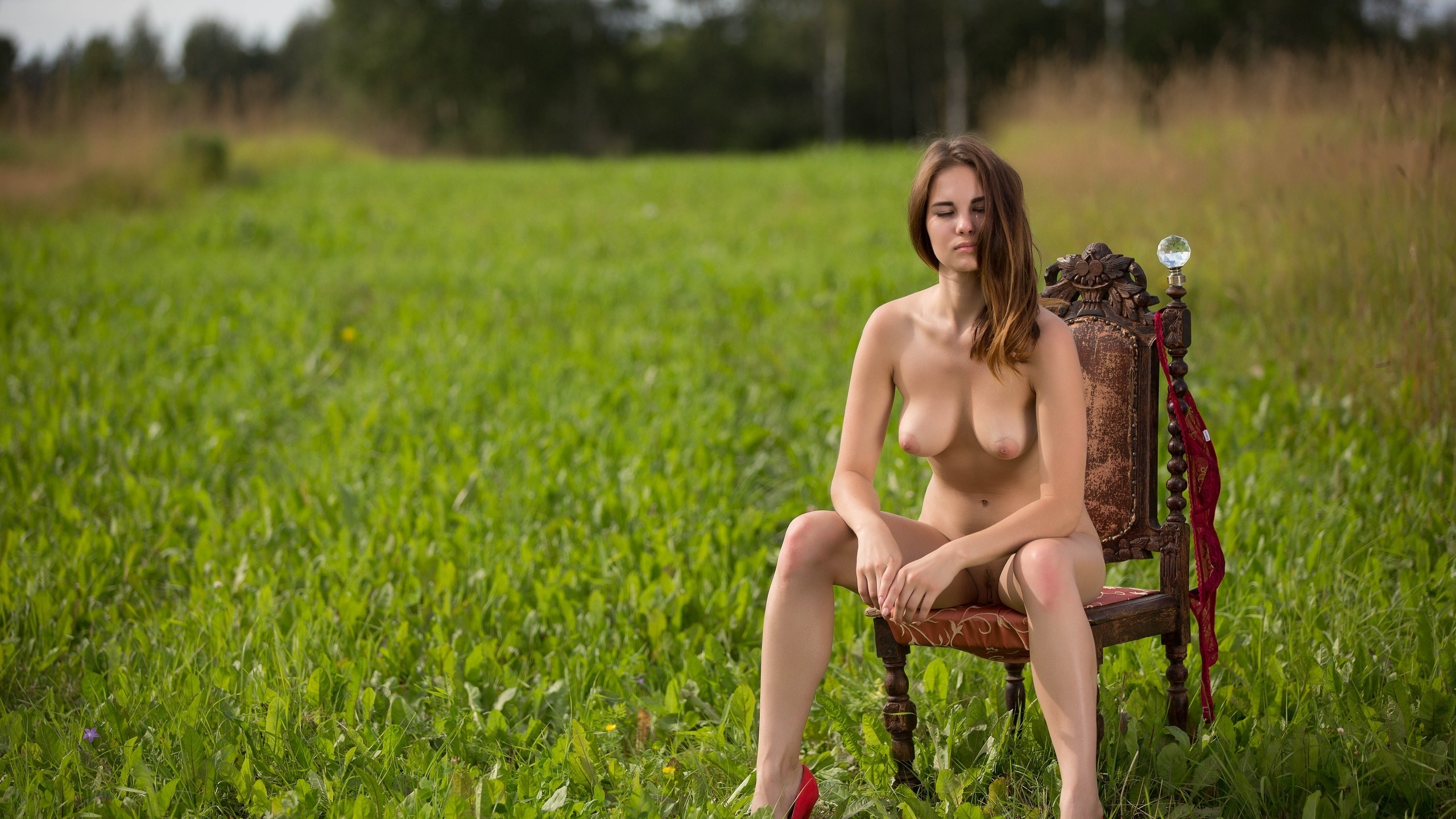 Голые русские девушки на природе фото — pic 10