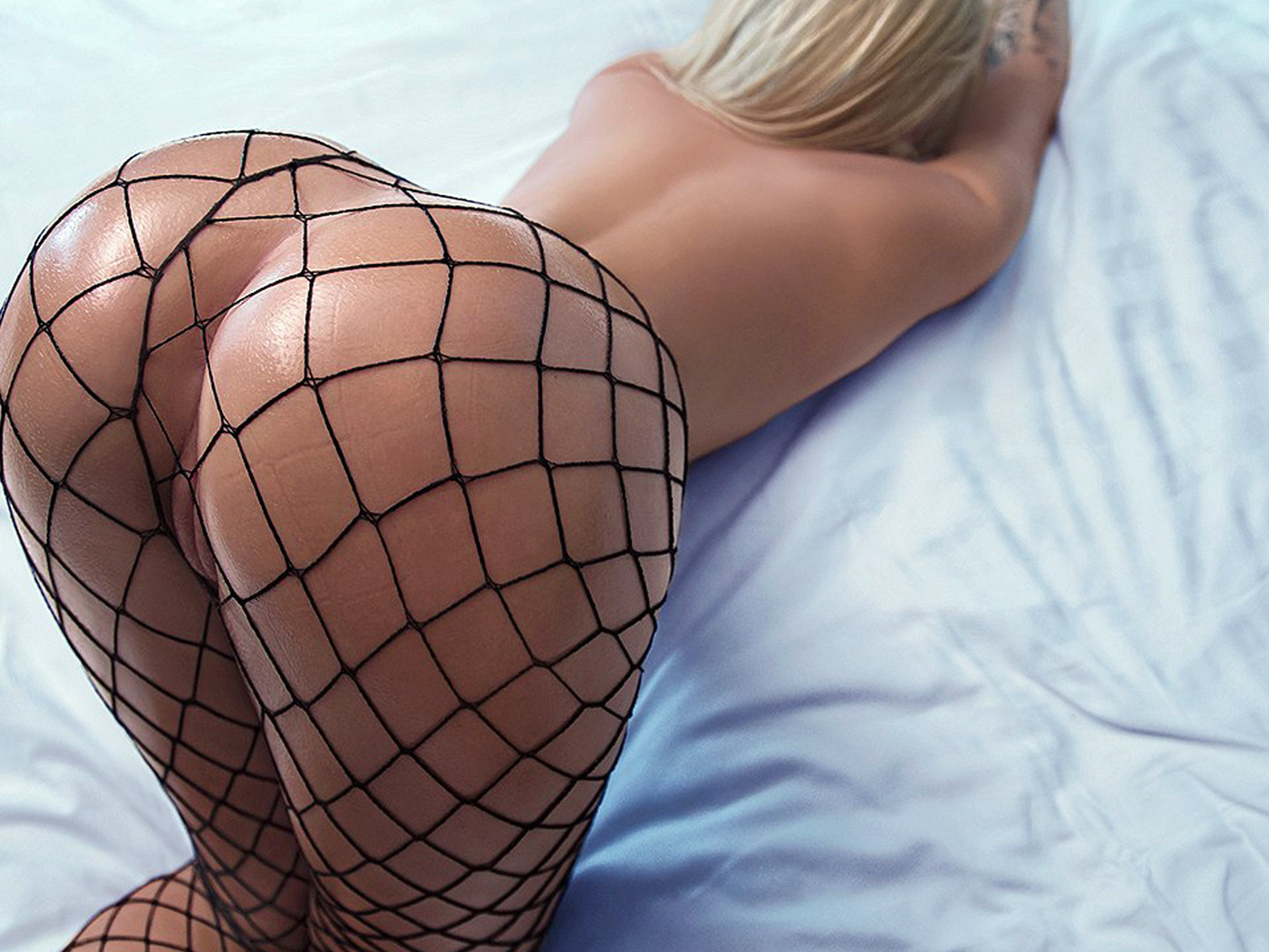 Bent Over Fishnet Doggy Style
