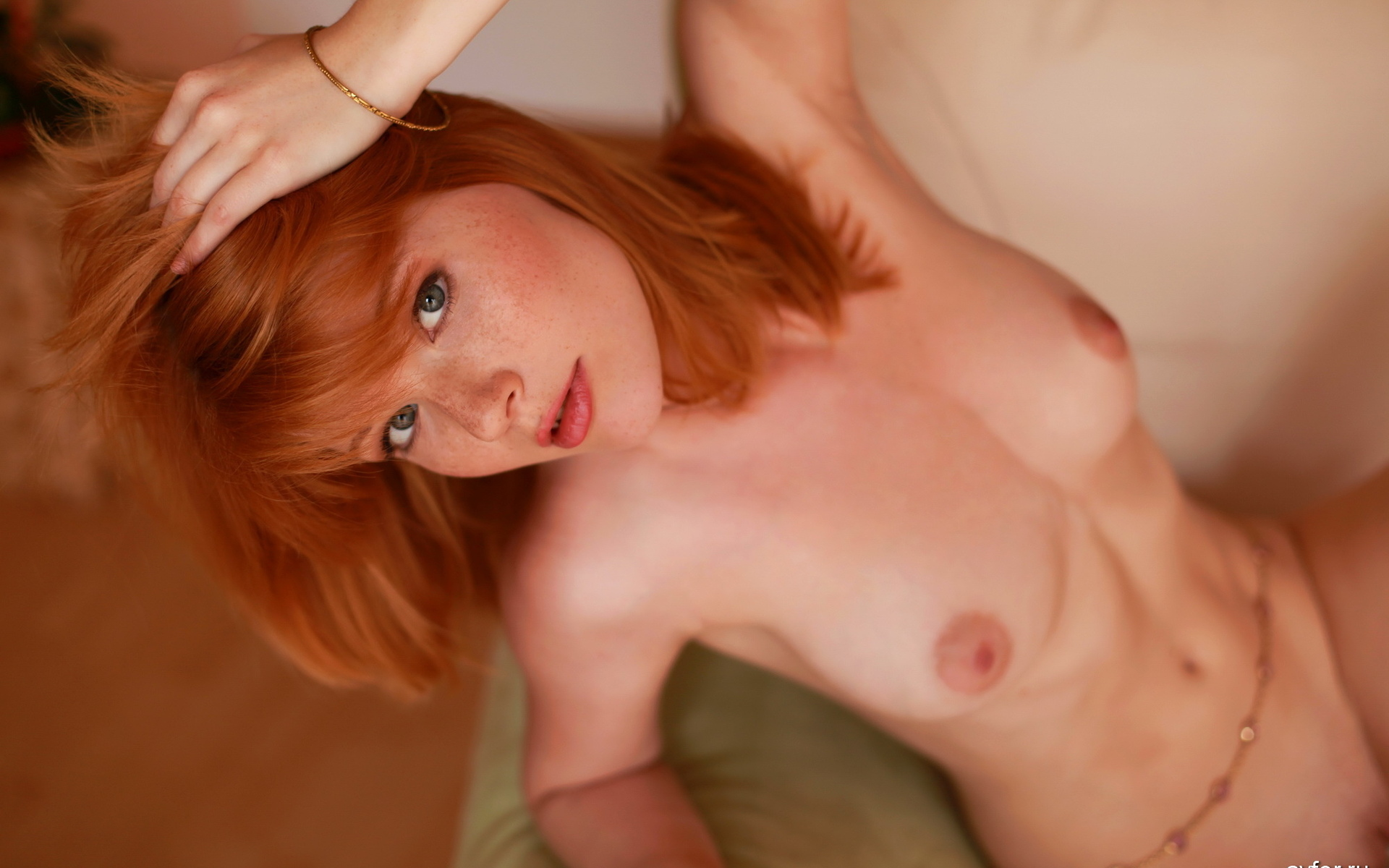 Shaved totally shaved nude redhead babe dolly little with open pussy