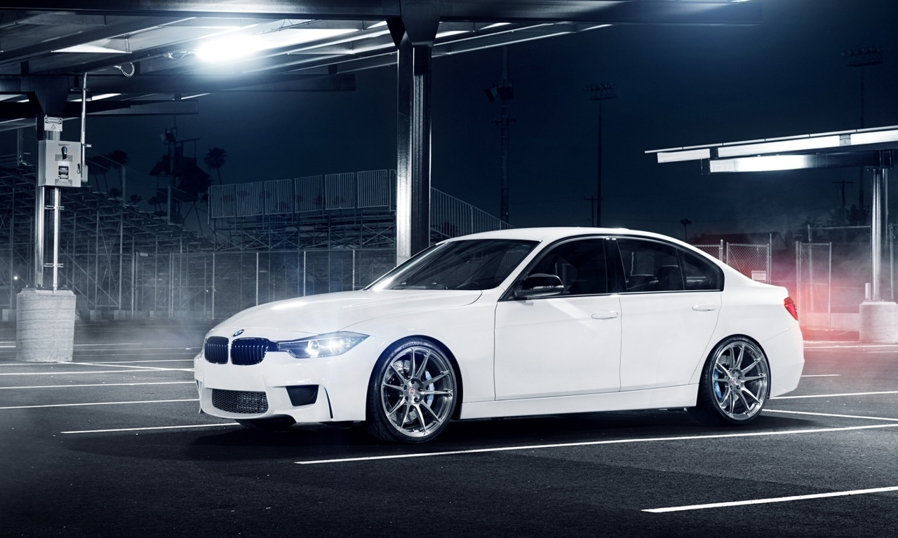 парковка, bmw белый, блики, front, 30, white, 3 eries