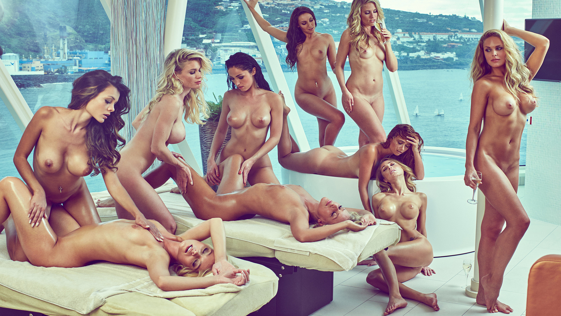 Bad Ass Nude Playboy Models Going Wild