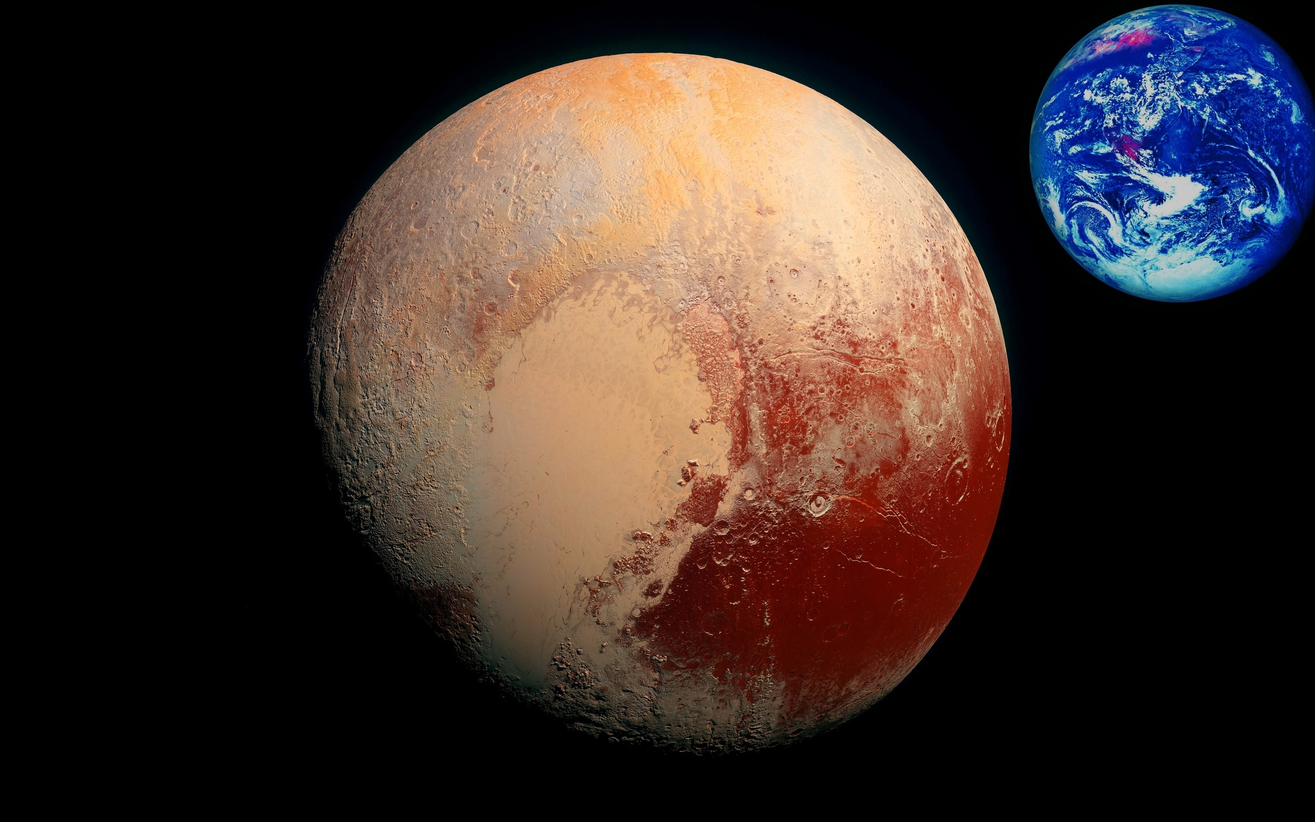 pluto and earth - HD2560×1600
