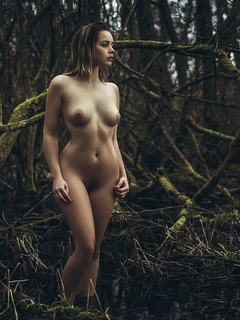 irl, forest, nude, boobs