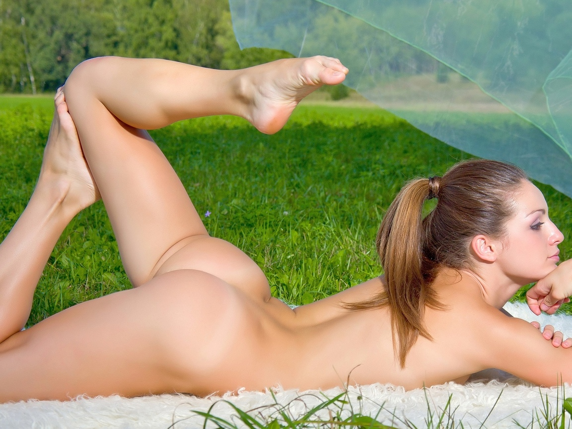 woman, girl, nature
