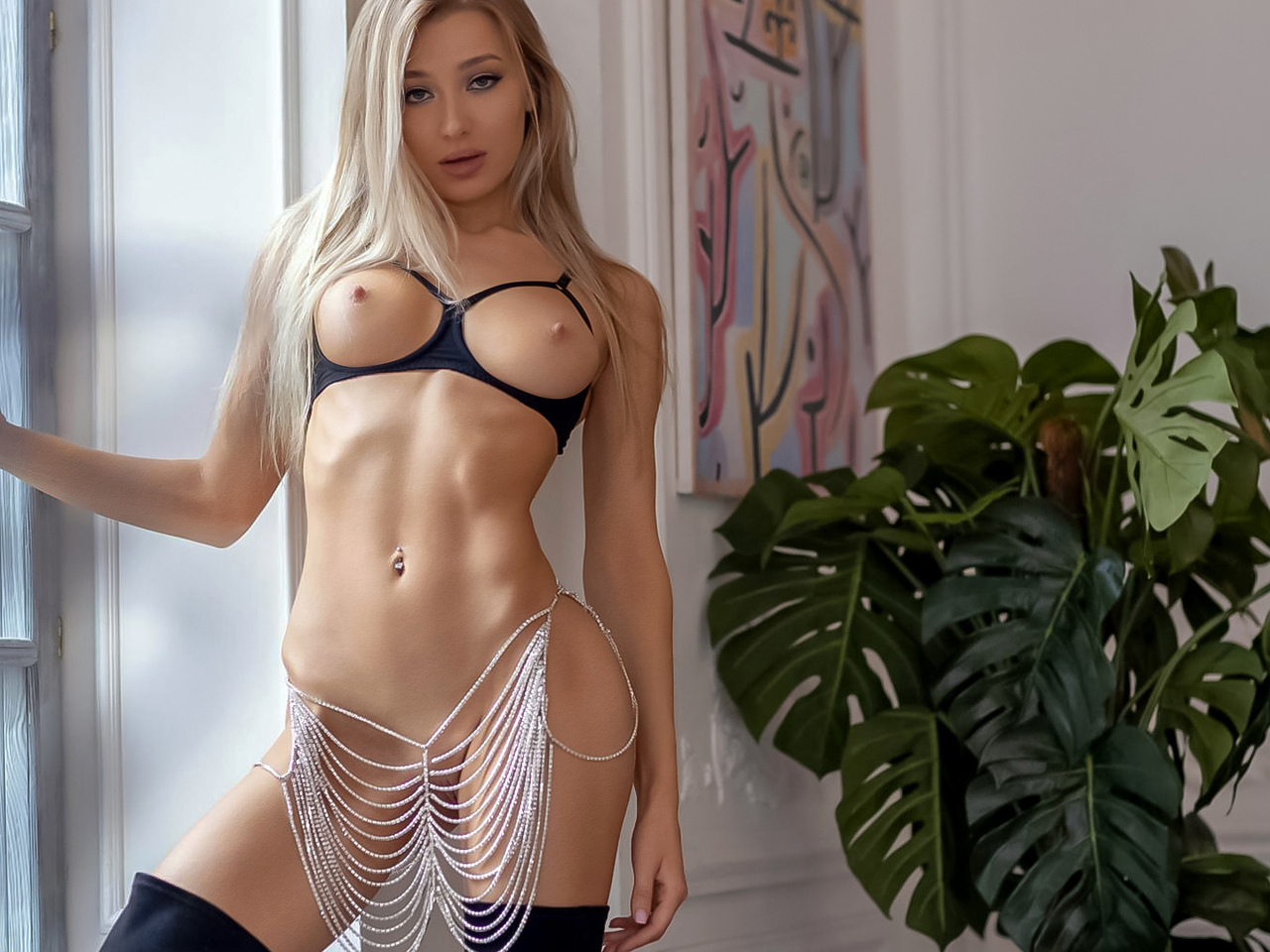 beautiful, sexy, blonde girl, angelika lesik