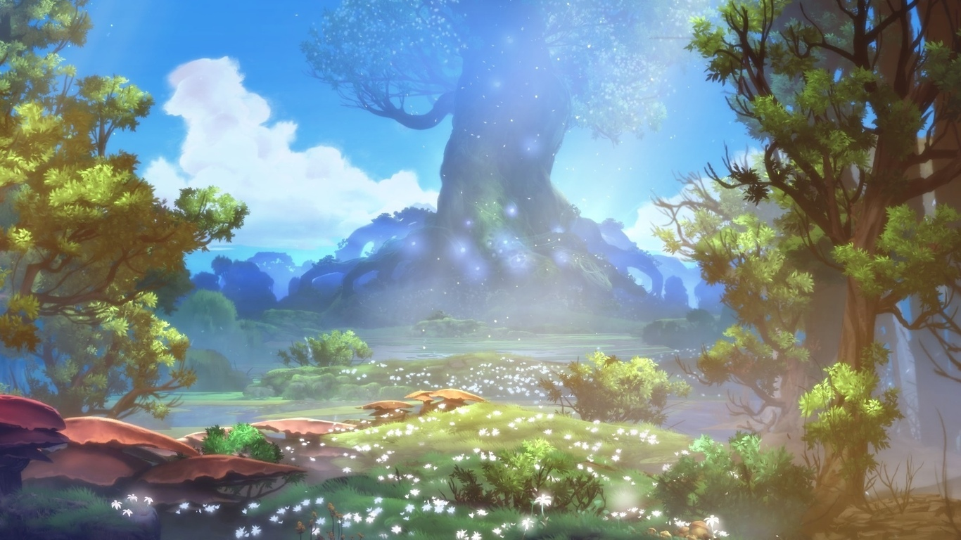 ori and the blind forest, wood, forest