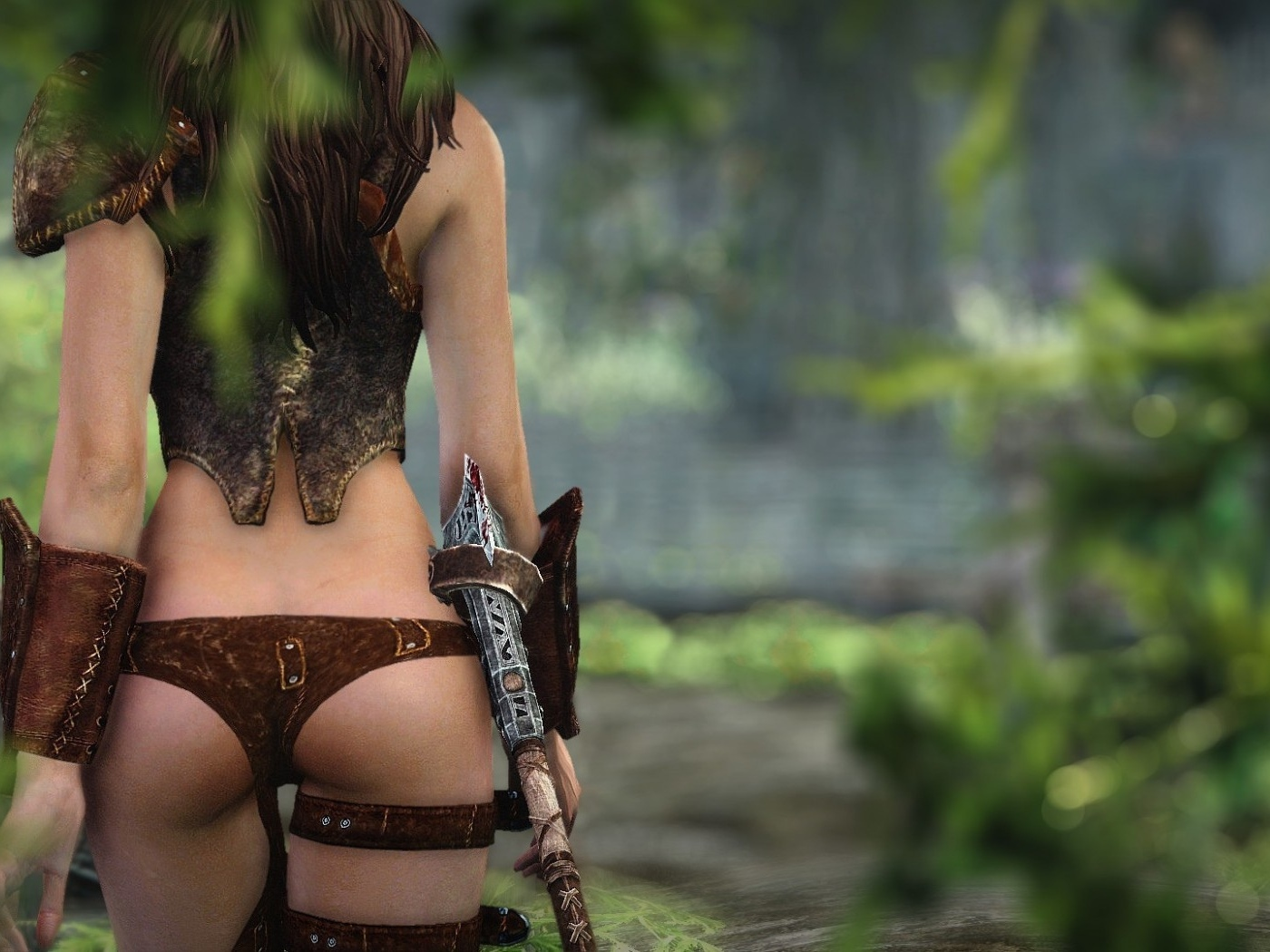 Topless warrior chick gifs fucks scene