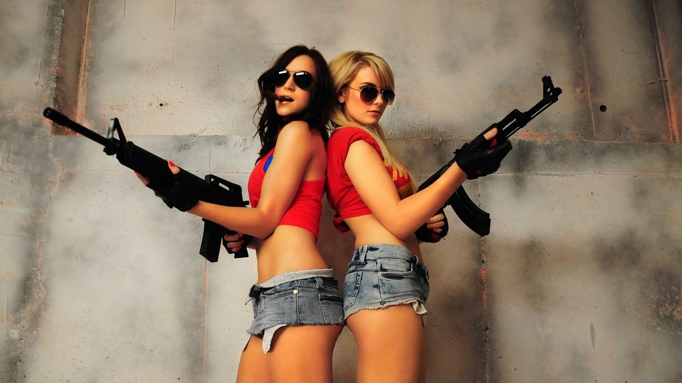 Naked girls with guns pictures sexual scenes