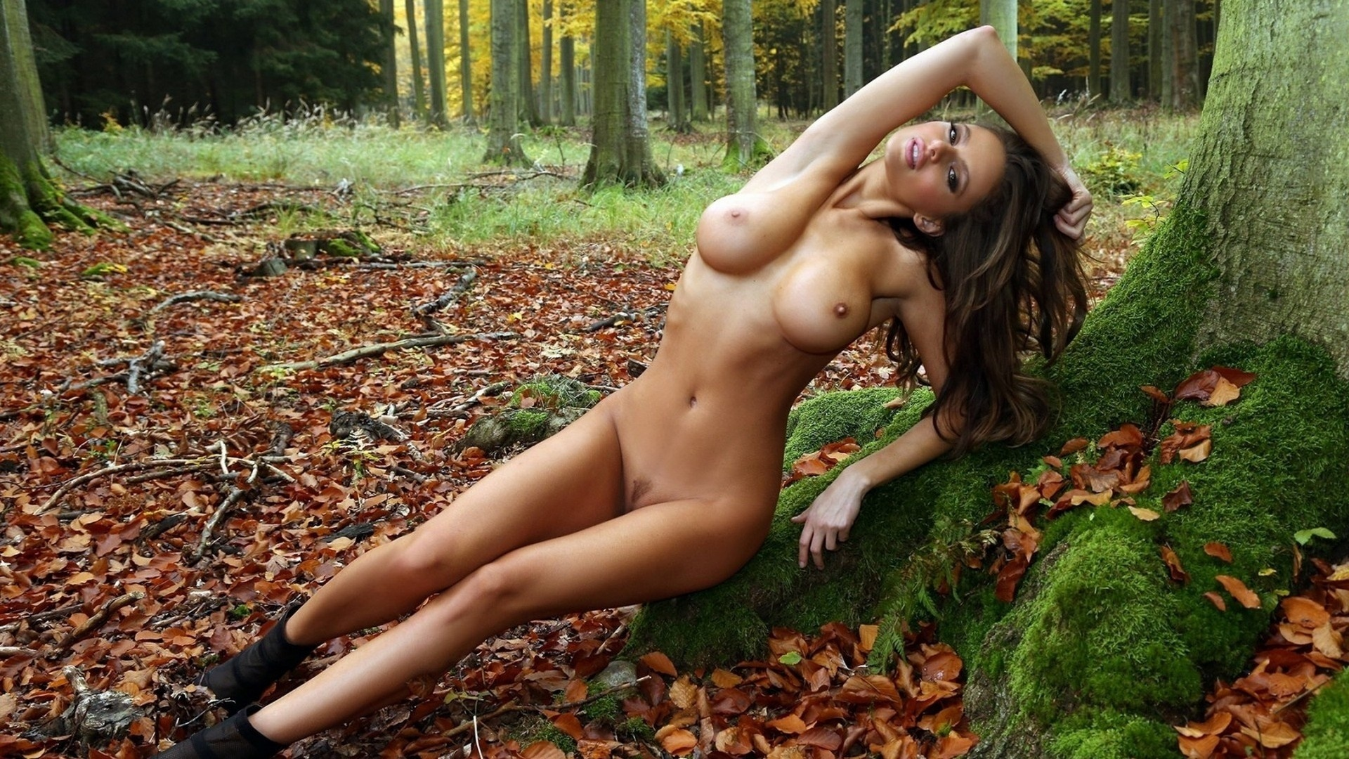 Forest nud girl wallpaper hardcore picture